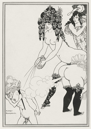 Lysistrata Defending the Acropolis  by Aubrey Beardsley. Fine art print