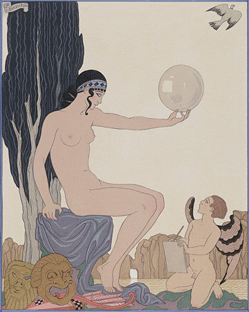 The Muse of History by Georges Barbier. Fine art print