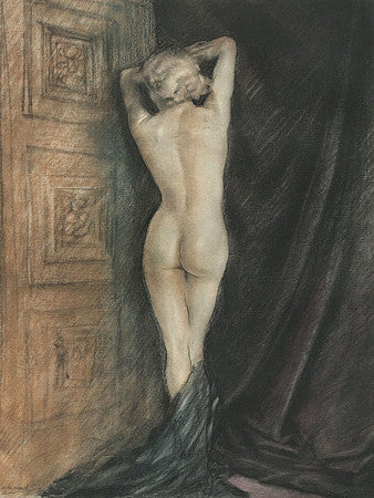 Female nude illustration from Baudelaire's Les Fleurs du Mal. Fine art print