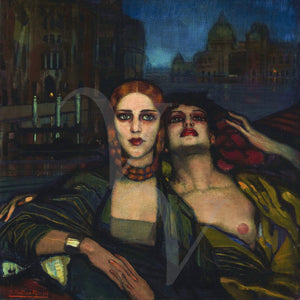 The Venetian Sisters . Decadent lesbian painting. Fine art print