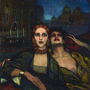 The Sisters of Venice. Decadent Symbolist lesbians painting. Fine art print