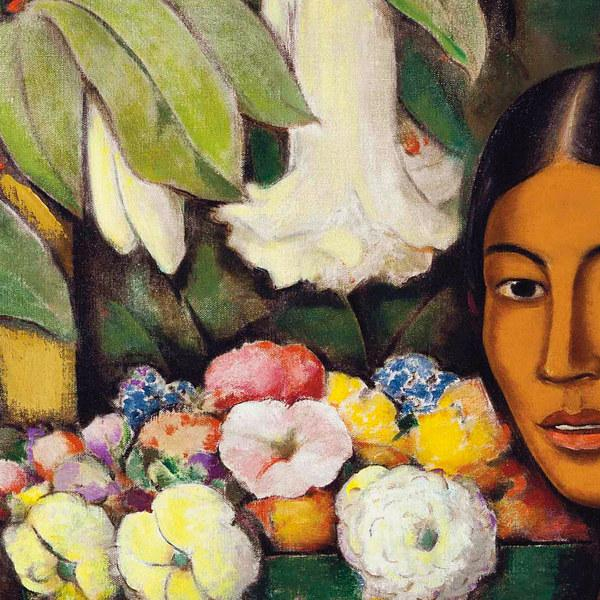 Mexican woman with flower basket - Venus Art Prints
