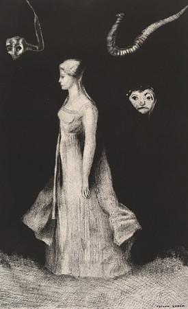 Haunting by Odilon Redon. Fine Art Print