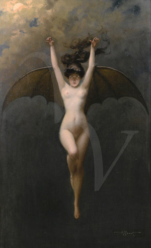 The Bat Woman. Gothic Nude. Fine Art Print