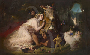 A Midsummer Night's Dream. Titania and Bottom. Shakespeare. Fine art print