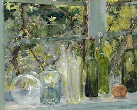 Bottles on Window - Venus Art Prints