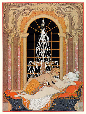 Dangerous Liaisons by Georges Barbier. French erotica. Fine art print