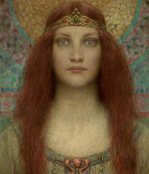 Portrait of a Woman. Pagan Beauty Painting. Fine Art Print