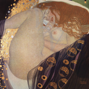 Danae by Gustav Klimt. Female nude. Mythology. Fine Art Print