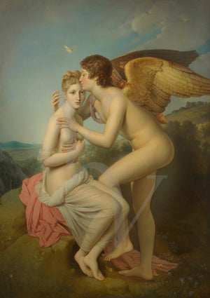 Cupid and Psyche Painting. Greek Mythology. Fine Art Print