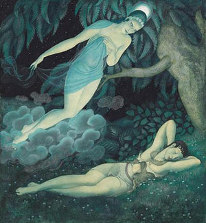 Selene and Endymion Painting. Fine Art Print
