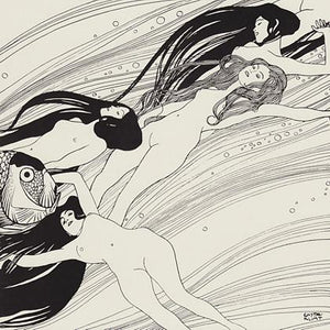 Fish Blood by Gustav Klimt. Sea Sirens Fine Art Print
