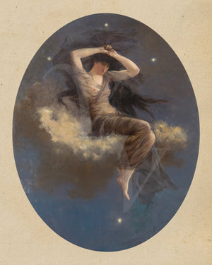 Spirit of the Southern Cross. Victorian star goddess painting. Fine art print