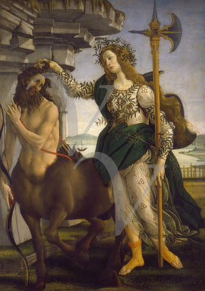 Pallas and the Centaur Painting by Botticelli. Fine Art Print