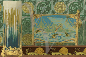 Art Nouveau Nature Fantasy. Fine Art Print