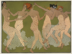 Art Nouveau dancing women fine art print