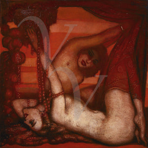 Ruby. Two women in a decadent setting. Erotica. Fine art print