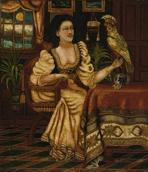 Woman with Cockatoo - Venus Art Prints