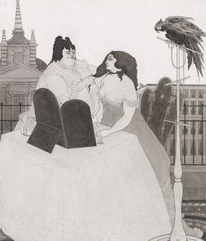 Lady at Her Dressing Table by Aubrey Beardsley. Fine art print