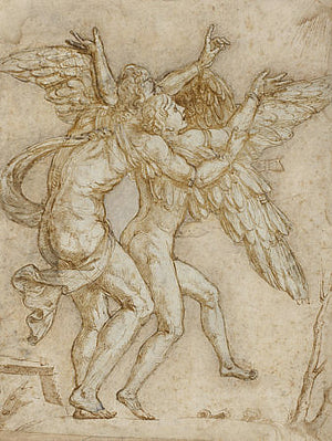Daedalus and Icarus. Fine art print
