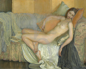 Sleeping nude painting. Fine art print