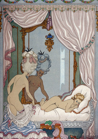 Erotic illustration by Georges Barbier for Les Liaisons Dangereuses by Pierre Choderlos de Laclos