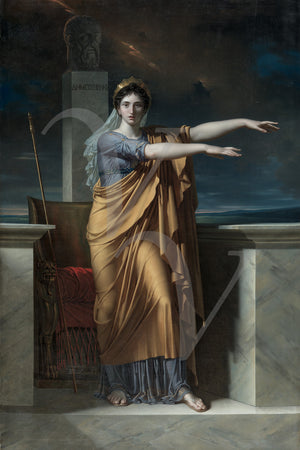 Polyhymnia, Muse of Eloquence by Charles Meynier. Fine art print