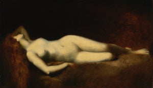Female reclining nude antique painting. Fine art print