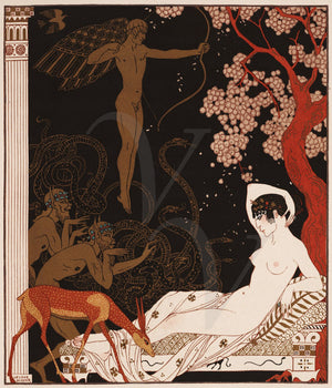 La Belle Helene by Georges Barbier. Deco erotic fine art print