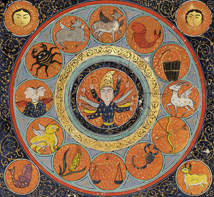 Turkish zodiac. Astrological painting from an Ottoman manuscript