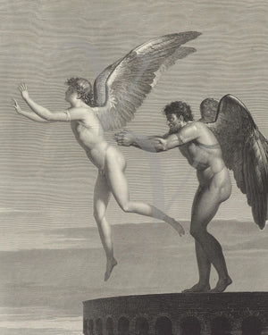Daedalus and Icarus. Greek Mythology. Fine art print