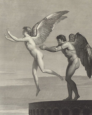 Daedalus and Icarus. French Engraving. Fine Art Print