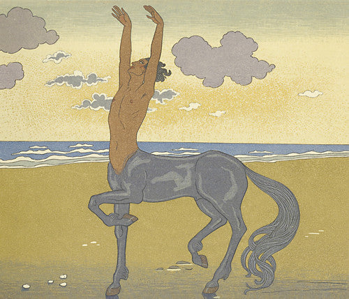 Cantaur by the Sea illustration by Georges Barbier. Fine art print