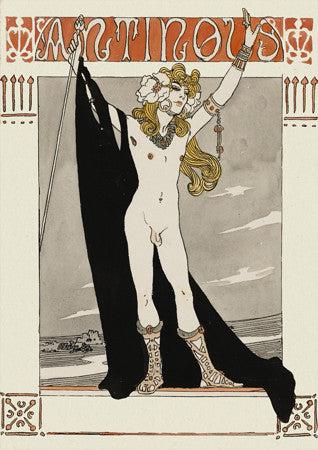 Antinous by Georges Barbier. Male nude. Ancient Greece. Fine Art Print