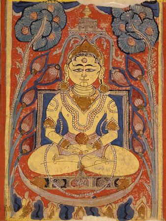 Indian painting from a sacred Jain text, the Kalpasūtra. Jainism. Fine art print