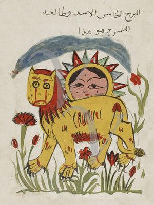 Leo and the Sun. Persian astrology fine art print