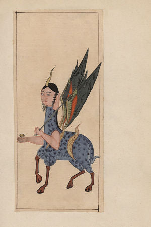 Painting of a Buraq from an antique Persian / Turkish manuscript