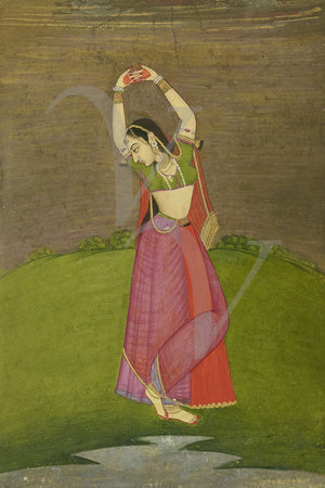 Indian woman dancing painting. Fine Art Print