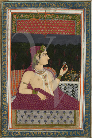 India woman painting. Persia. Fine art print