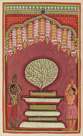 Hindu Deities. Indian Painting. Tamil. Fine Art Print