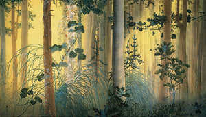 Japanese forest painting. Fine art print