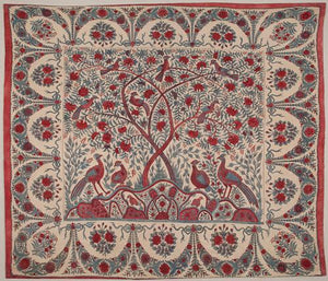 Peacock Garden Indian Textile Design. Fine art print