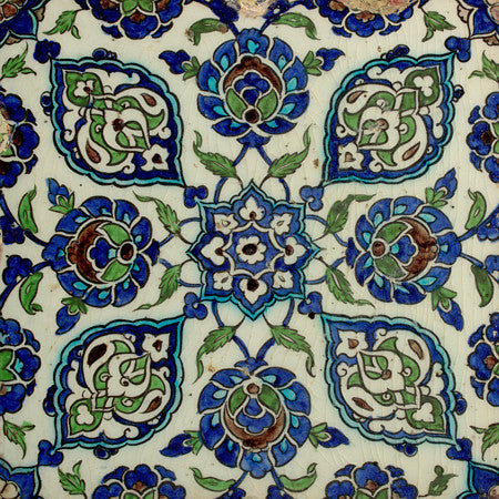 Ottoman tile design from Damascus, Syria. Fine art print