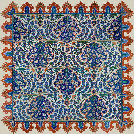 Ottoman Iznik tiles design, Turkey. Fine Art Print