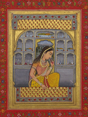 Princess Rani Padmini. Indian painting. Fine art print