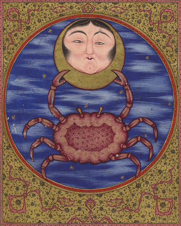 Venus in the Sign of Cancer. Medieval Turkish Ottoman astrology painting. Fine art print