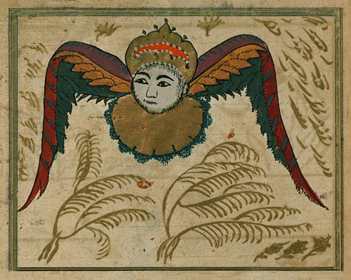 Illustration of an angel from an Ottoman Turkish version of 'The Wonders of Creation'. Fine art print