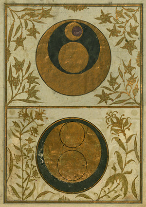 The Orbits of Venus and the Sun. Ottoman Turkish paintings. Fine art print