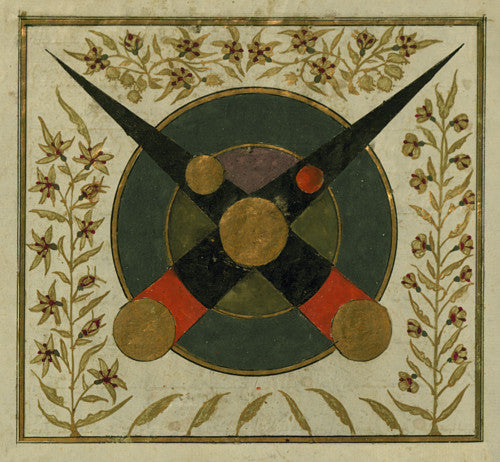 Lunar Eclipse. Ottoman Turkish astrology painting. Fine art print
