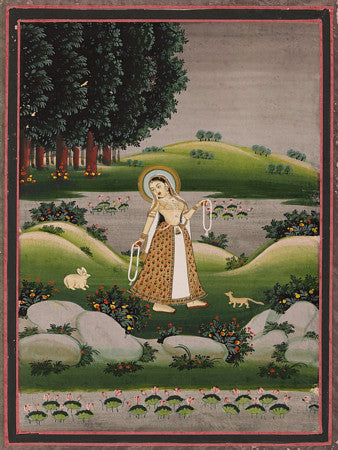 Indian Ragamala painting. Fine art print
